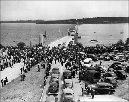 Lake Washington Floating Bridge 1940.