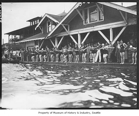 Marathon Swimmers in Leschi, 1925